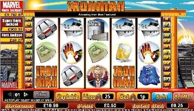 Iron Man Slot Screenshot