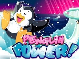 penguin power slot game logo