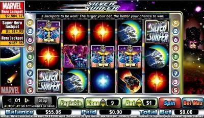 silver surfer slot screen