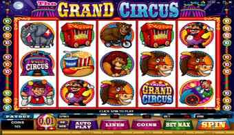 The Grand Circus slot screenshot