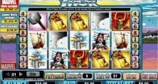 thor slot screen